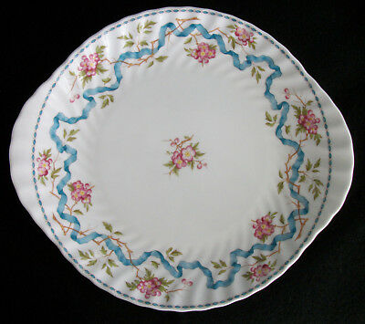 """Minton Ribbons And Blossom Large Plate / Platter 10-3/4"""" X 9-1/2"""" (2001)"""