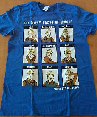 Many faces of Wash t-shirt (medium) Loot Crate Qmx  New