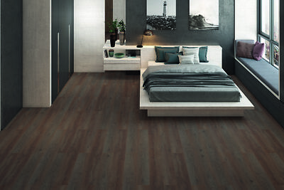 Aivary Dark Brown Oak Laminate Flooring 8mm By 193mm By 1380mm