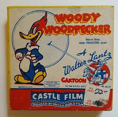 Woody Woodpecker 8 mm movie 494 Solid Ivory preowned A Walter Lantz Cartoon