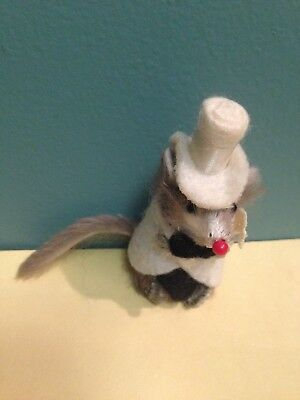 Little Mouse Factory White Tux Top Hat