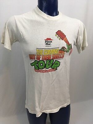RARE VTG 1990 Pizza Hut Ninja Turtles Coming Out Of Their Shells Tour T-shirt