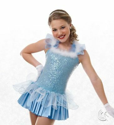 """Curtain Call """"Icicle Ball"""" Ballet Dance Costume, Blue, Holiday, Adult X-Large"""