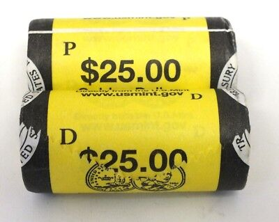Coin Roll 2006 Native American Dollar $25 Sacagawea P & D US Mint Official AS29