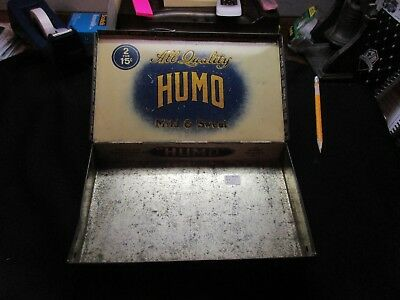 Vintage Humo Metal Cigar Box - Detroit, Mi Factory