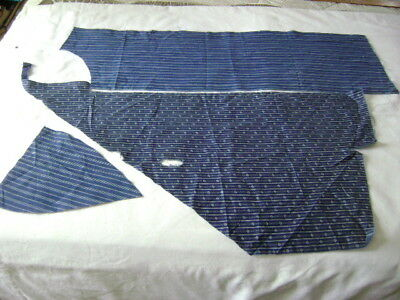 Antique two indigo blue print calico with white  remnant pieces