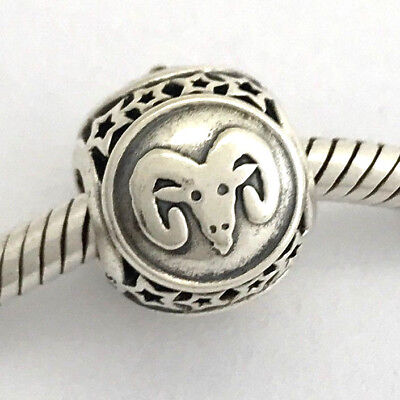 78045492a AUTHENTIC PANDORA ARIES Star Sign Sterling Silver Charm 791936, New ...