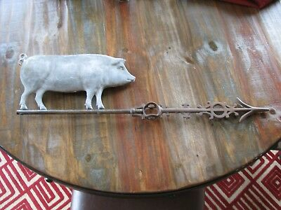 Old Fat Large BURLINGTON Pig Lightning Rod Weather Vane