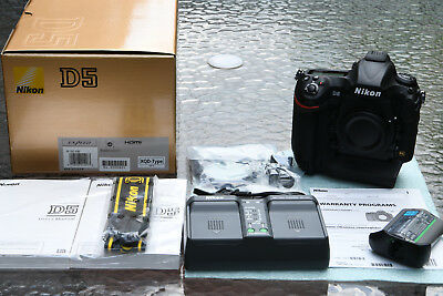 Mint Nikon D5 DSLR Camera (Body Only, Dual XQD Slots) Only 6K Shots! US Model