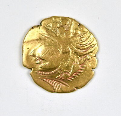 Ancient Gold Northern Celtic Gaul Coin Aulerci Eburovices  225-175 BC