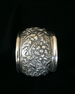 RARE Antique TIFFANY & CO. Sterling Silver Repousse Napkin Ring ~ 56 grams