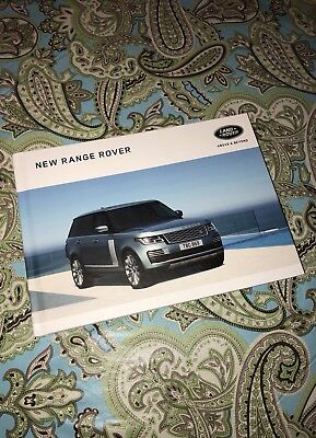 2018 Range Rover Hardcover Sales Brochure - 95 Colored Pages