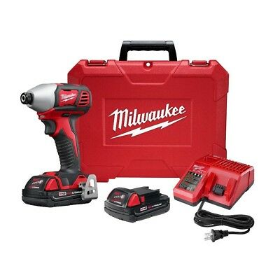 """Impact Driver 1/4"""" Hex 2-Speed M18 18-Volt W/(2) 2Ah Batteries Charger Milwaukee"""