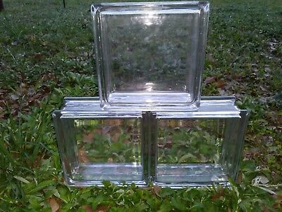 "Vintage Architectural Glass Blocks Vue 7 1/2"" BY 7 1/2"" × 3"