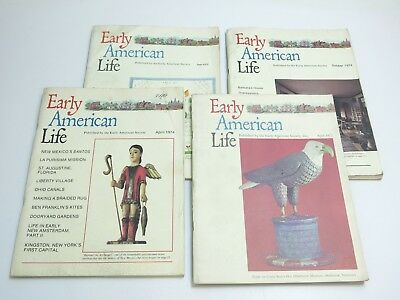 Lot Of 4 Vintage Early American Life Magazines 1972 - 1975