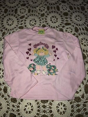 Authentic Vintage 80's CABBAGE PATCH KIDS Girl's Pink Sleep Shirt Pajama Top 6x