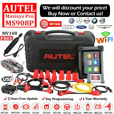 Autel MaxiSys Pro MS908P Elite Diagnostic Tool J2534 Programming Key Coding TPMS