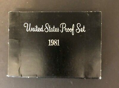 1981 S  United States Proof Set With Susan B Anthony Dollar