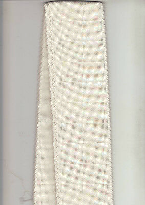 14 COUNT AIDA BAND - Cream-Colour with Scalloped Edging