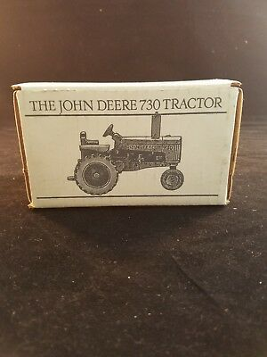 John Deere 730 Pewter Tractor Spec Cast Toy JDM-006 Historic Collection NEW!
