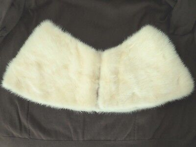 Vintage Fur Stole Collar Repair or Cutter Ivory
