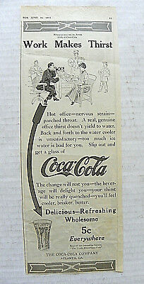 """1912, Magazine """"thirst Content ~ Drink Coca-Cola"""" With Woman With Red Hat"""