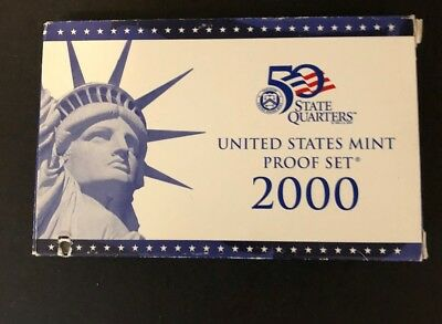 2000 S  United States Mint Proof Set With State Quarters