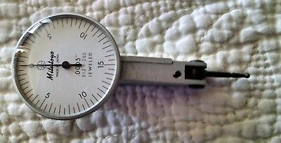"Mitutoyo 513-202 .0005"" Jeweled Dial Test Indicator w/ Case"