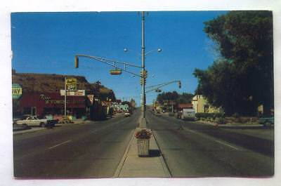 Rawlins WYOMING *Busy Road Scene 1964*