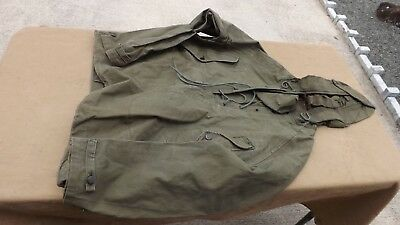 1967 VIETNAM US ARMY PARKA MAN'S WET WEATHER Size Small
