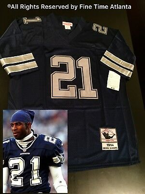 480bc99a NEW Deion Sanders Dallas Cowboys Mens Road Retro Jersey Falcons Redskins