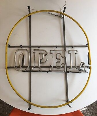 Vintage  RARE 1970's Buick Opel Dealership Neon Sign