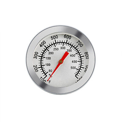 Edelstahl BBQ Grillthermometer Grill Thermometer Analog Bimetall 50 - 500℃ -DE-
