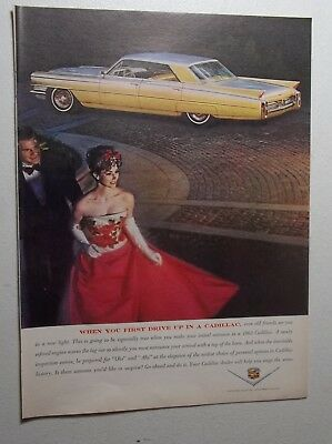 1962 Magazine Ad for 1963 Cadillac General Motors Co