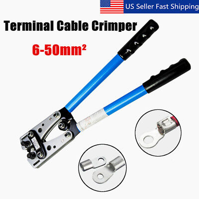 Large Wire Terminal Crimping Tool 6-50mm² Cable Lug Crimper Y.O Terminal Plier