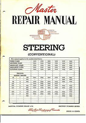 1949-54 Ford Car and Truck Master Steering Repair Manual Ford of Canada