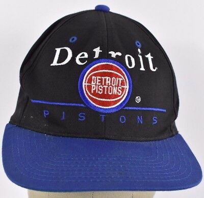 a349596d2b8df Black Detroit Pistons NBA Team Embroidered Baseball hat cap adjustable  Snapback
