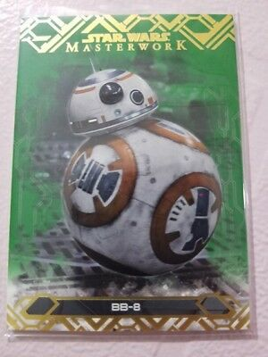 2017 Topps Star Wars Masterwork #65 BB-8 GREEN - 64/99