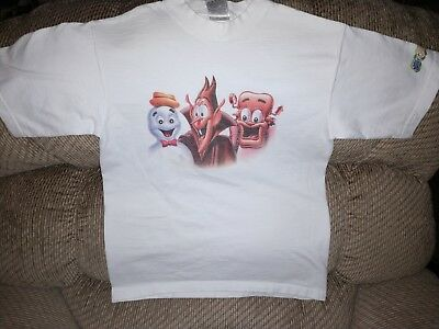 BooBerry Count Chocula Frankenberry T-Shirt Childs 14/16 Rare Promo Cotton White