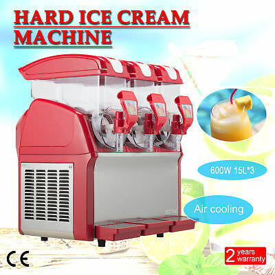 3 x 15L 600W Slushy Machine Slush Making Machine Frozen Drink Machine 45L