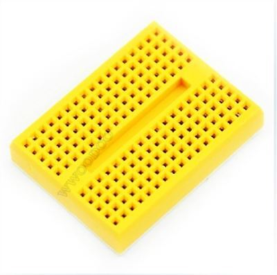 5Pcs Yellow Solderless Prototype Breadboard Syb- 170 Tie-Points For Arduino uc