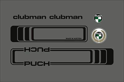 Puch Clubman Frame Decal Set In Black