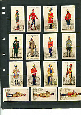 Cigarette Cards Vintage Players Military Uniforms X 15 Cards Lot 108
