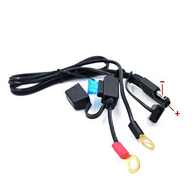 Motorcycle Battery  Terminal Ring Connector Harness 12Volt Charger Adapter Cable