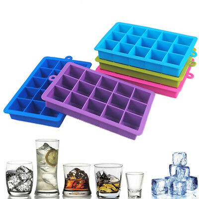 15 Big Cube Giant Jumbo Large Silicone Ice Cube Square Tray Mold Mould Hot! CSM