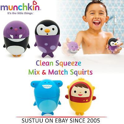 Munchkin Clean Squeeze Mix and Match Bath Squirts│Easy Clean Toddler's Fun Toy