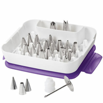 Wilton # 2531 Deluxe Cake Decoration Baking Sugarcraft Icing Nozzle Tip Set Case