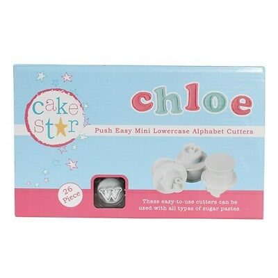 Cake Star Sugarcraft Push Easy Mini Icing Cutters Lowercase Alphabet Letters Set