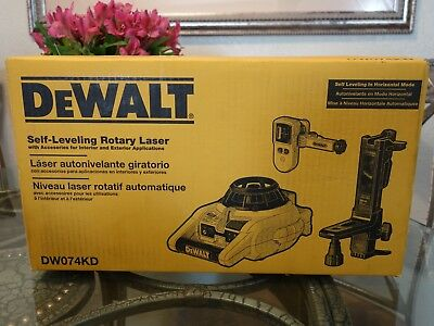 Dewalt DW074KD Self-Leveling Interior & Exterior Rotary Laser Level Tool Kit