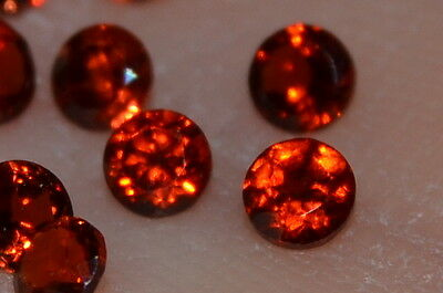 VVS 2.5mm naturel non traité ROUGE BRILLANT COUPE africaine GEMME GRENAT